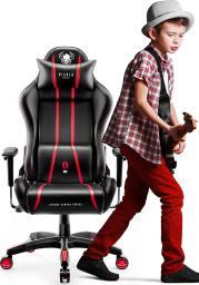 Fotel Diablo Chairs X-ONE 2.0 KIDS Czarno-czerowny