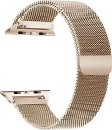 Alogy Bransoleta Milanese pasek Alogy do Apple Watch 1/2/3/4/5 38/40mm złota uniwersalny