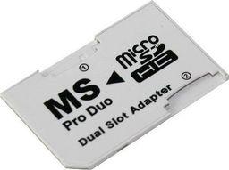 Hertz PSP22 ADAPTER DUAL MICRO SD / MS PRO DUO BIAŁY uniwersalny