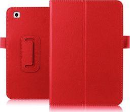 Etui do tabletu 4kom.pl Etui skórzane case do LG G Pad II 10.1 V940N stojak czerwone uniwersalny