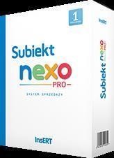 Program Insert InsERT- Subiekt nexo PRO - 1 st.