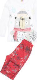 TXM TXM Piżama dziewczęca z długim rękawem, nadruk 116 BIAŁY