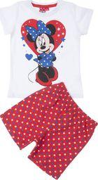 TXM TXM Piżama dziewczęca z krótkim rękawem Minnie 110 CZERWONY