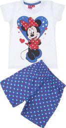 TXM TXM Piżama dziewczęca z krótkim rękawem Minnie 116 NIEBIESKI