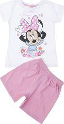 TXM TXM Piżama dziewczęca z krótkim rękawem Minnie 122 RÓŻOWY