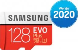 Karta Samsung MicroSDXC EVO Plus 2020 128GB + adapter (MB-MC128HA/EU)