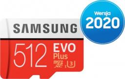 Karta Samsung Evo Plus MicroSDXC 512 GB Class 10 UHS-I/U3  (MB-MC512HA/EU)