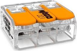 Wago złączka szynowa 3-przewodowa 3x0,5-6mm2 transparentna, pomarańczowa (221-613)