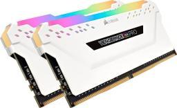 Pamięć Corsair Vengeance RGB PRO, DDR4, 16 GB, 3600MHz, CL18 (CMW16GX4M2D3600C18W)