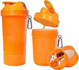 Muscle Store Muscle Shake Shaker Neon 400ml + 120ml + 180ml : Kolor - Zielony