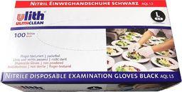 Ulith Ulith Rękawice medyczne nitrylowe czarne 100szt. : Rozmiar - L