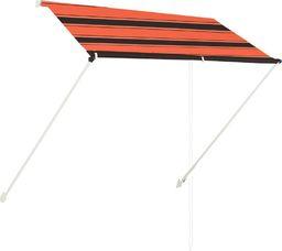 vidaXL Zwijana markiza, 200x150 cm, pomarańczowo-brązowa