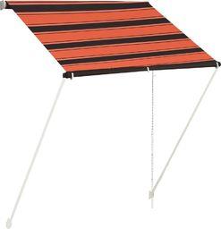vidaXL Zwijana markiza, 150x150 cm, pomarańczowo-brązowa