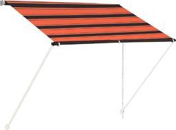 vidaXL Zwijana markiza, 100x150 cm, pomarańczowo-brązowa