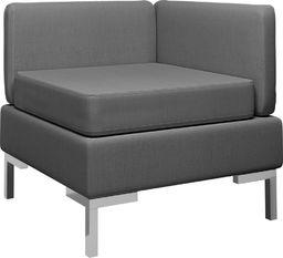 vidaXL Moduł sofy narożnej z poduszką, tkanina, ciemnoszary