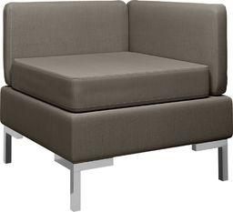 vidaXL Moduł sofy narożnej z poduszką, tkanina, taupe