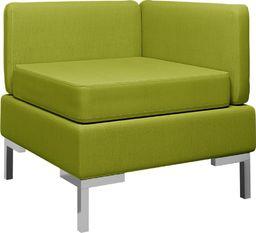 vidaXL Moduł sofy narożnej z poduszką, tkanina, zielony
