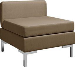 vidaXL Moduł sofy środkowej z poduszką, tkanina, brązowy