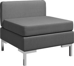 vidaXL Moduł sofy środkowej z poduszką, tkanina, ciemnoszary