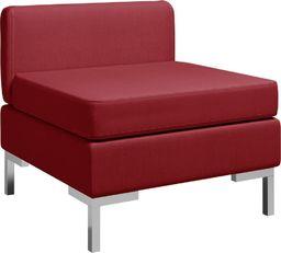 vidaXL Moduł sofy środkowej z poduszką, tkanina, czerwone wino