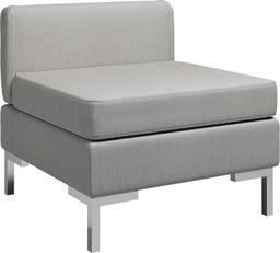 vidaXL Moduł sofy środkowej z poduszką, tkanina, jasnoszary
