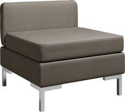 vidaXL Moduł sofy środkowej z poduszką, tkanina, taupe