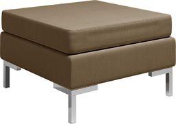 vidaXL Podnóżek do mebli modułowych, z poduszką, tkanina, brązowy