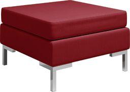 vidaXL Podnóżek do mebli modułowych, z poduszką, tkanina, kolor wina