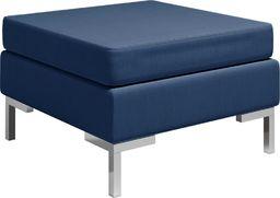 vidaXL Podnóżek do mebli modułowych, z poduszką, tkanina, niebieski