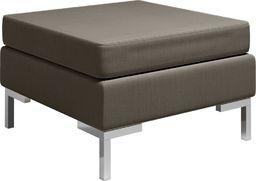 vidaXL Podnóżek do mebli modułowych, z poduszką, tkanina, taupe