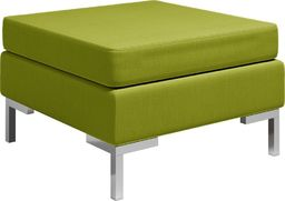 vidaXL Podnóżek do mebli modułowych, z poduszką, tkanina, zielony
