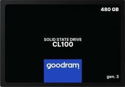 Dysk SSD GoodRam CL100 Gen3 480 GB 2.5'' SATA III (SSDPR-CL100-480-G3)