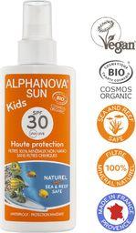 Alphanova Sun Kids Bio Spray Przeciwsłoneczny filtr 30 125g