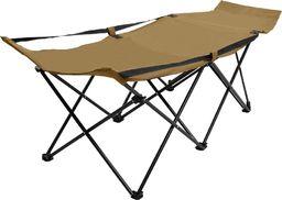 vidaXL VidaXL Składane łóżko turystyczne, taupe, stalowe