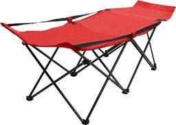 vidaXL VidaXL Składane łóżko turystyczne, czerwone, stalowe