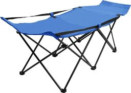 vidaXL VidaXL Składane łóżko turystyczne, niebieskie, stalowe