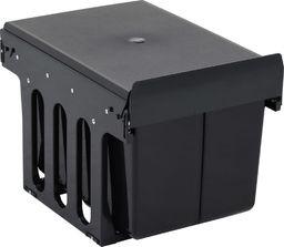Kosz na śmieci vidaXL szafkowy 36L czarny (51179)