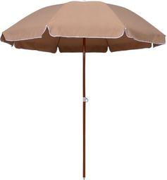 vidaXL VidaXL Parasol na stalowym słupku, 240 cm, kolor taupe