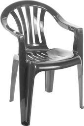 Ołer Garden Plastikowe krzesło Cyrkon ciemnozielone