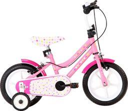 vidaXL Rower dla dzieci 12 cali biało-różowy