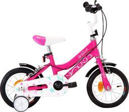vidaXL Rower dla dzieci, 12 cali, czarno-różowy