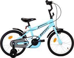 vidaXL Rower dla dzieci, 16 cali, czarno-niebieski