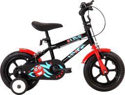 vidaXL Rower dla dzieci, 12 cali, czarno-czerwony