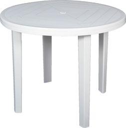 Okrągły stół ogrodowy Opal biały