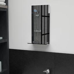 vidaXL Lustro ścienne z półką, 20x40 cm, hartowane szkło