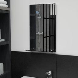 vidaXL Lustro ścienne z półką, 30x50 cm, hartowane szkło