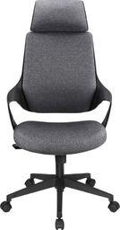 Techly Obrotowy fotel biurowy z wysokim oparciem i zagłówkiem