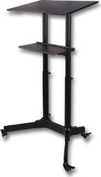 Techly Uniwersalne mobilne biurko stolik prezentacyjny czarny