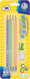 Astra Ołówek pastel HB z miarką 4szt +gumka+ temp. ASTRA