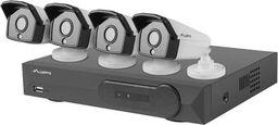 Kamera IP Lanberg Zestaw do monitoringu rejestrator 8 kanałowy + 4 kamery IP